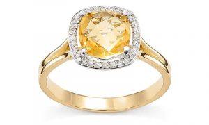 pierścionek zaręczynowy z cytrynem