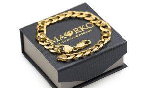złota bransoletka w eleganckim opakowaniu